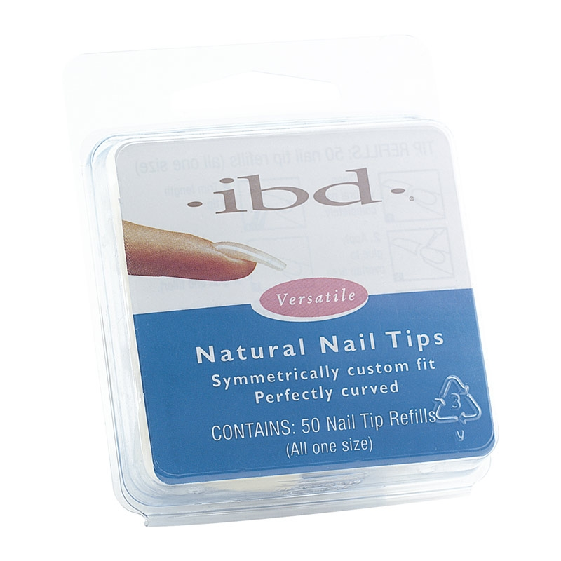 ibd natural nail tips refill gr 1. Black Bedroom Furniture Sets. Home Design Ideas