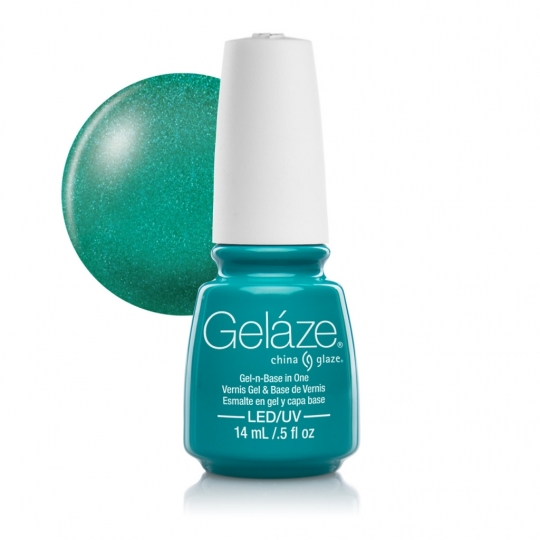 China Glaze Gelaze Turned Up Turquoise 14ml
