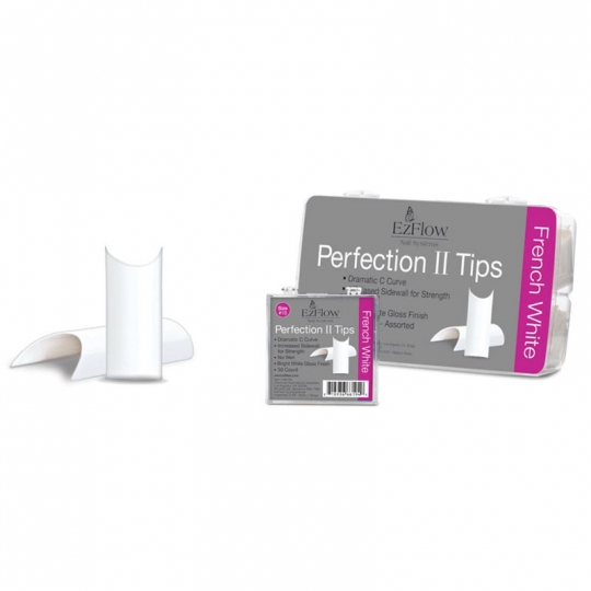 EzFlow Perfection II Tips French White  (100 Stk. BOX)