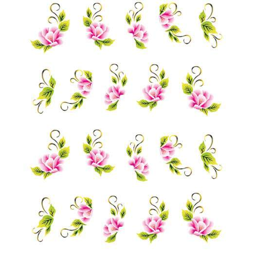 One Stroke Blumen Sticker 8