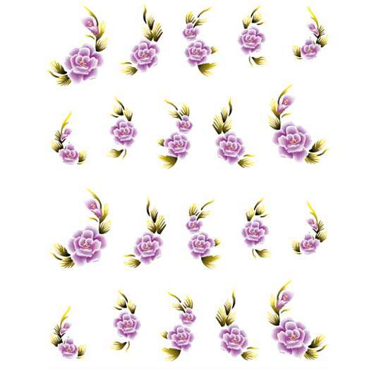One Stroke Blumen Sticker 9