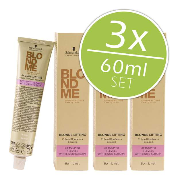 3 x Schwarzkopf Professional Blondme Blond Lifting 60ml