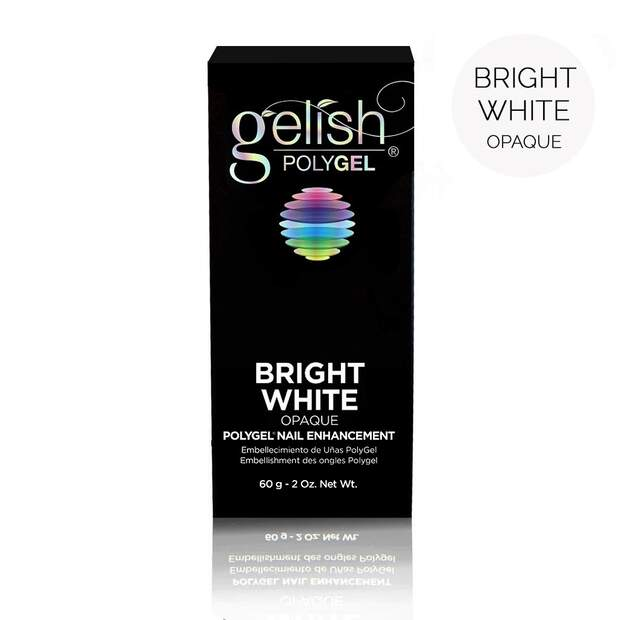 gelish Polygel - bright white 60g